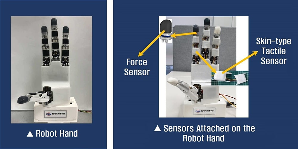 Tactile Sensor-integrated Robot Hand. Credit: Korea Institute of Machinery and Materials (KIMM)