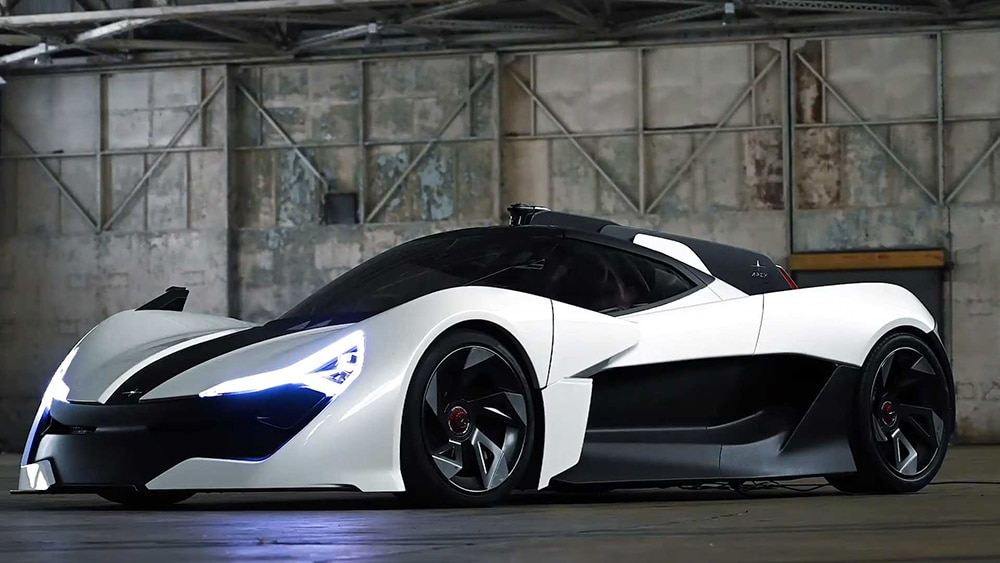 It accelerates from 0 to 100 km/h (0-62 mph) in just 2.3 seconds.