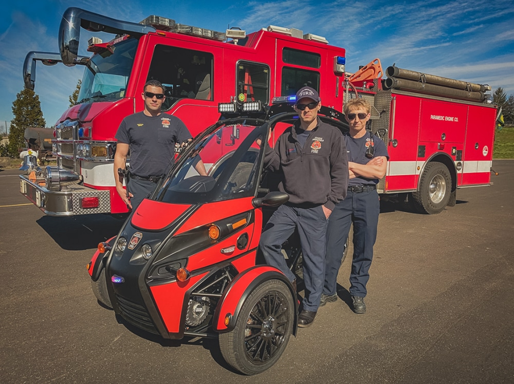 It is already being tested by the Eugene-Springfield fire department in the United States.