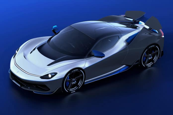 Pininfarina Battista Anniversario exceeds the performance of Formula 1 car.