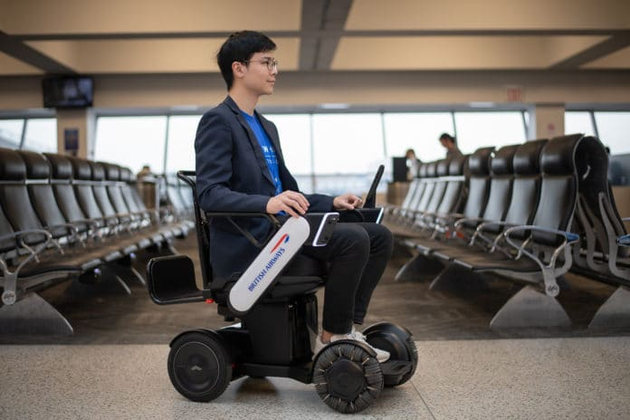 British Airways trials autonomous mobility device at New York JFK Airport.