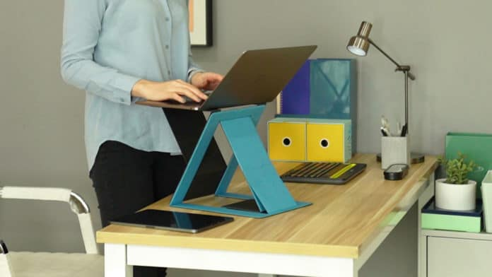 MOFT Z, the world's thinnest, foldable sit-stand laptop desk. Credit: MOFT