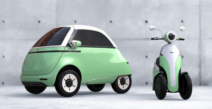 Microlino 2.0 and Microletta, two retro electric mobility concepts.