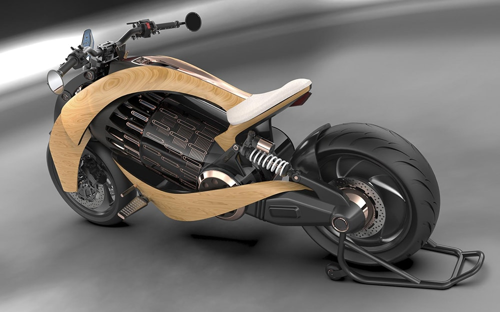 The motorcycle can accelerate to 0-62 mph (100 km/h) in just three seconds.