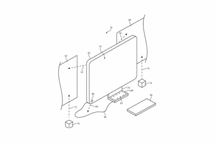 The patent showing how an iMac could project onto walls.