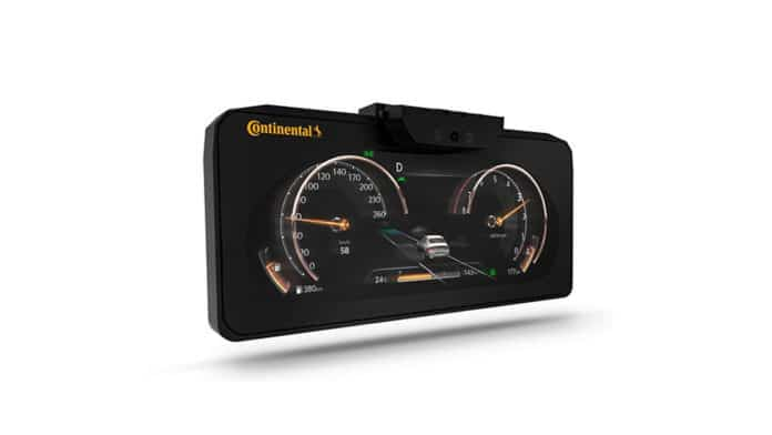 Continental's car display featuring autostereoscopic 3D technology.