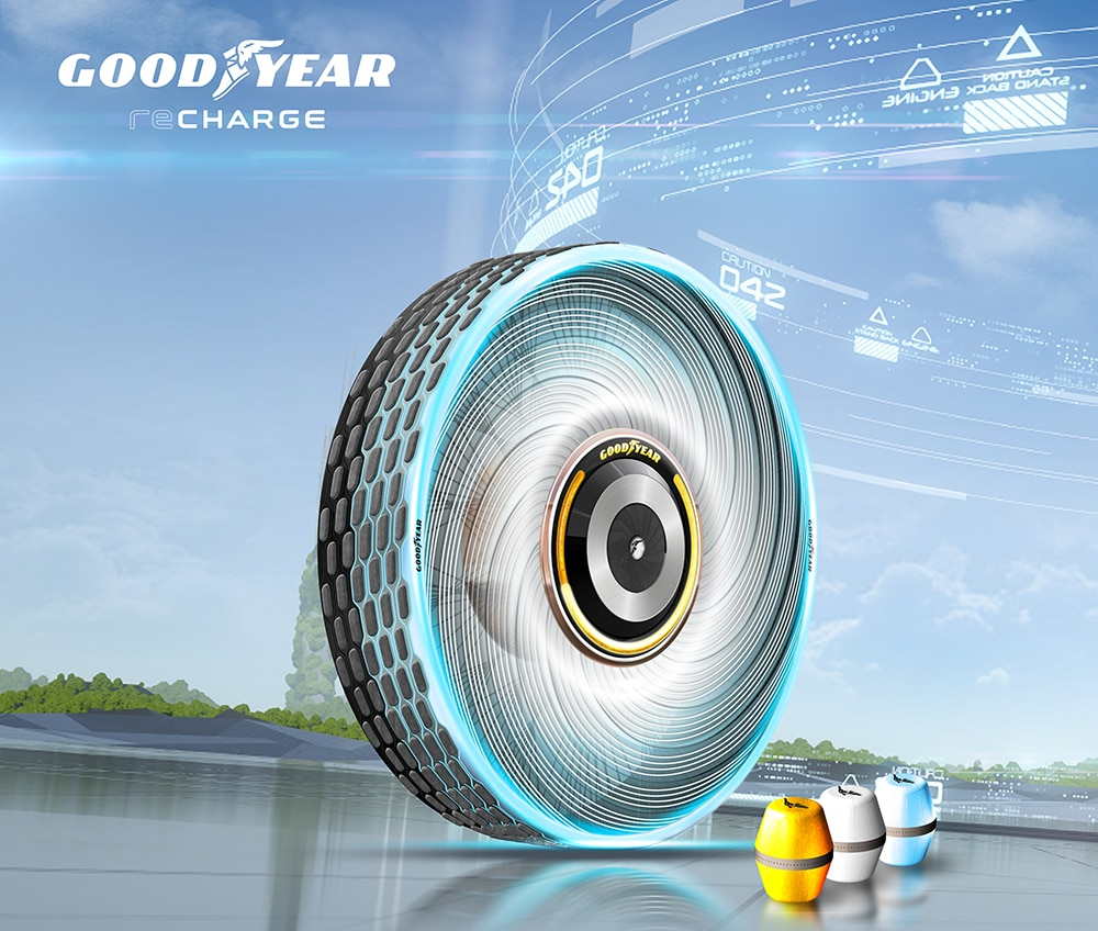 A self-regenerating concept tire that can adapt and change to meet individual mobility needs.