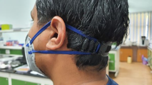 3D-printed ear guard for comfortable use of face masks by healthcare workers