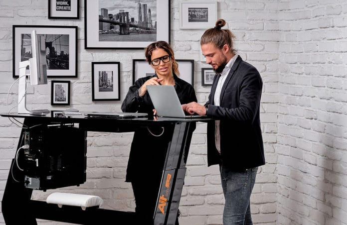 AiT Smart One: App-controlled standing desk with many built-in features.