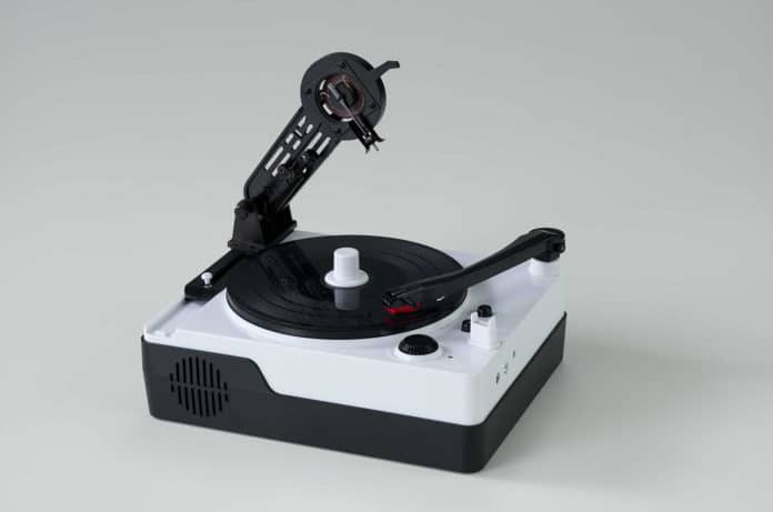 The Instant Record Cutting Machine able to cut blank vinyl discs and play them back instantly.