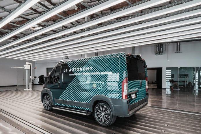 Karma L4 E-Flex, an autonomous electric delivery van.