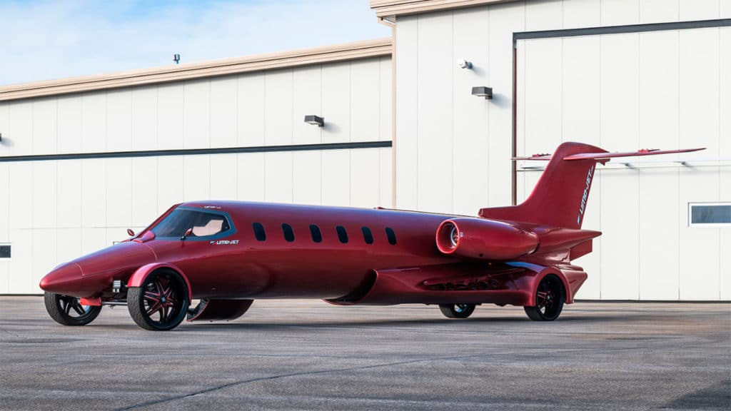 Limo-Jet: The private jet transformed into a limousine for sale.