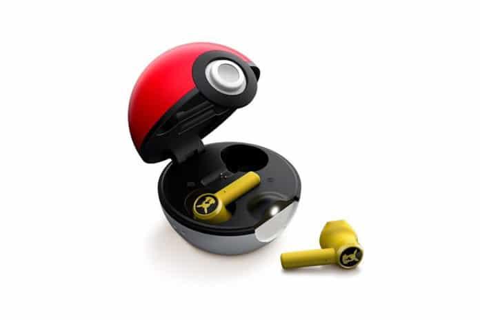 Razer's Pikachu true wireless earbuds charge inside a Poké Ball.