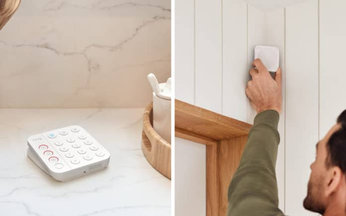 The updated Ring Alarm Keypad features one-touch buttons for emergency services. Credit: Ring