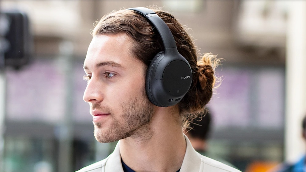 Sony WH-CH710N with active noise cancellation.