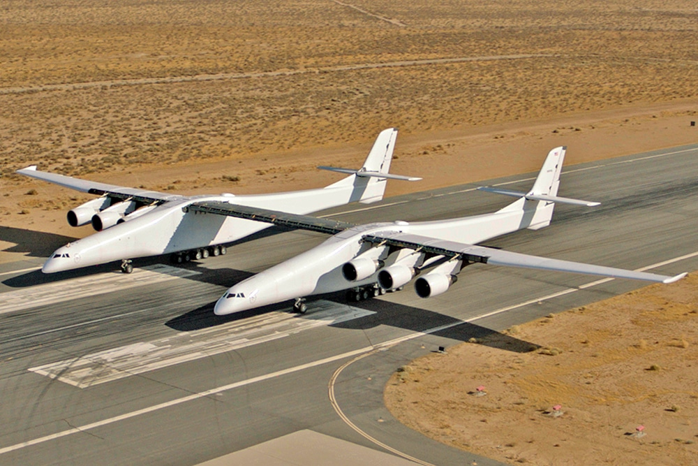 Stratolaunch Carrier Aircraft can launch up to three Talon-A testbeds in a single mission.