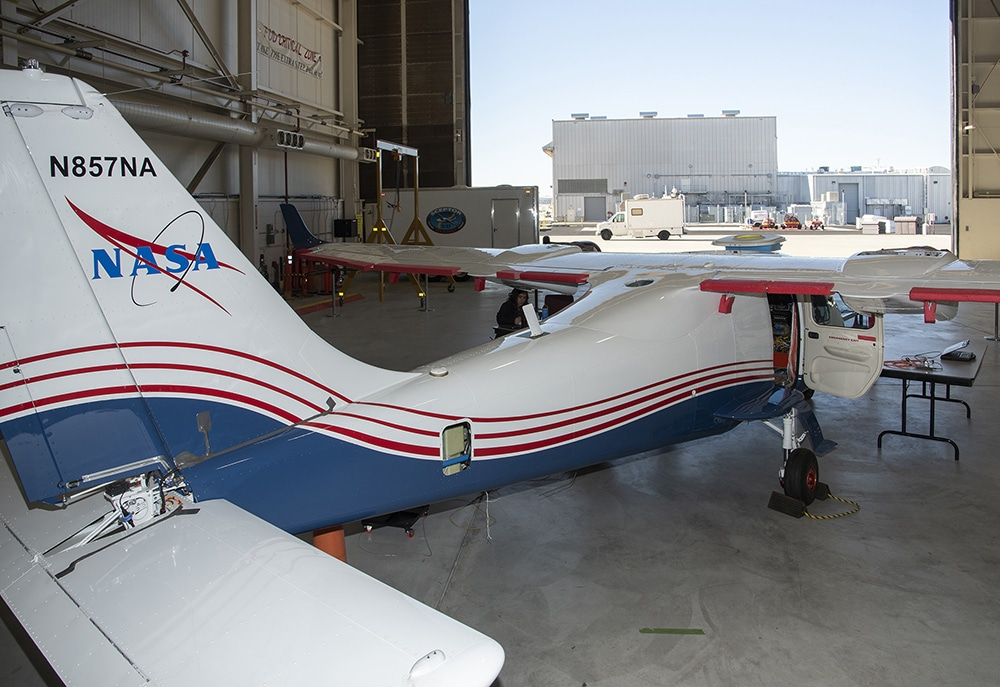 NASA engineers put the X-57 Maxwell through its initial telemetry tests.