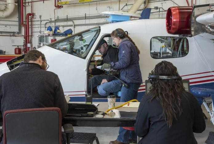 Telemetry testing begins on the X-57 Maxwell, NASA's first all-electric X-plane, as the operations crew at NASA's Armstrong Flight Research Center records the results.