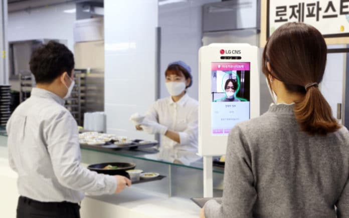 LG unveils contactless facial recognition payment system for shops and cafes.