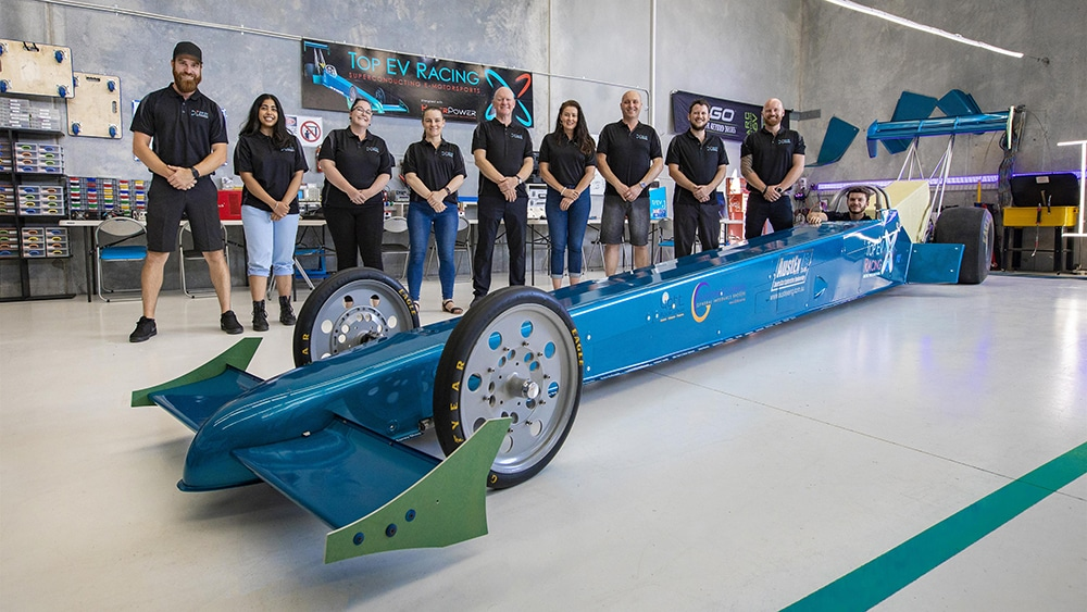 To demonstrate the engine, HyperPower teamed up with Top EV Racing, which produces electric dragsters.