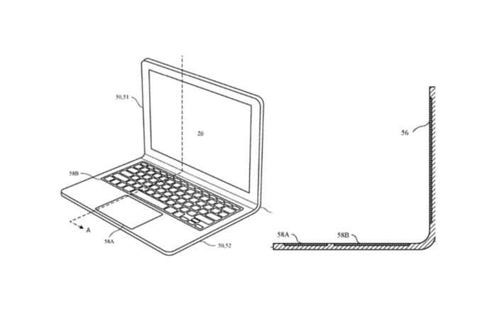 Apple patents MacBook design with a bendable hinge.