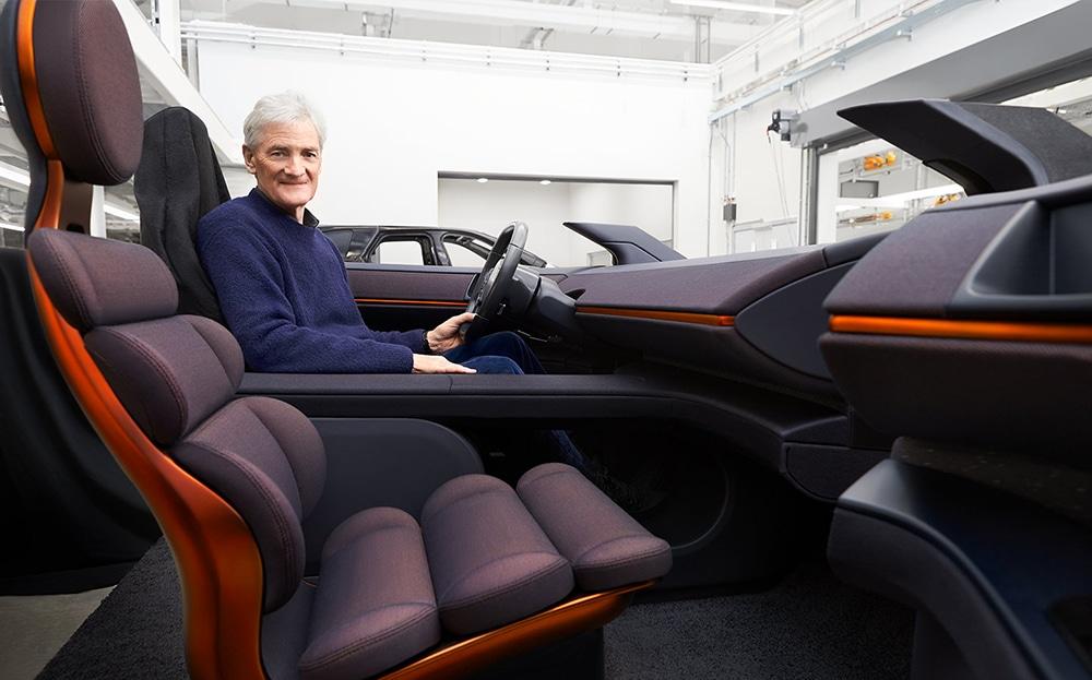Dyson electric car's futuristic interior.