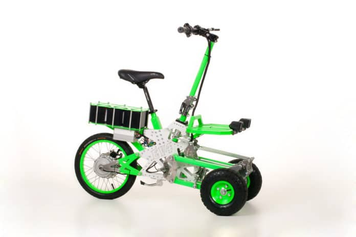 EV4 Gremlin, a folding 'do-it-yourself' mini electric scooter.