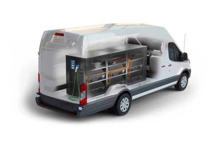Lightning Mobile installed in Transit 350HD cargo van.