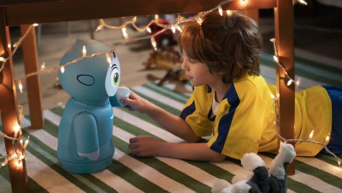 Meet Moxie, a social robot that help children develop social skills.