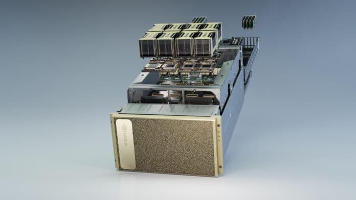 NVIDIA DGX A100 packs record 5 petaflops of AI performance.