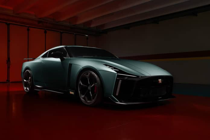 Nissan unveils the first production version of its GT-R 50 sportscar.