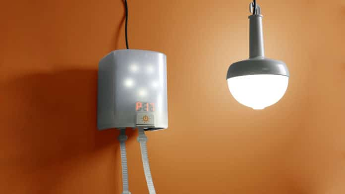 NowLight, a manually powered lamp brings light without electricity.