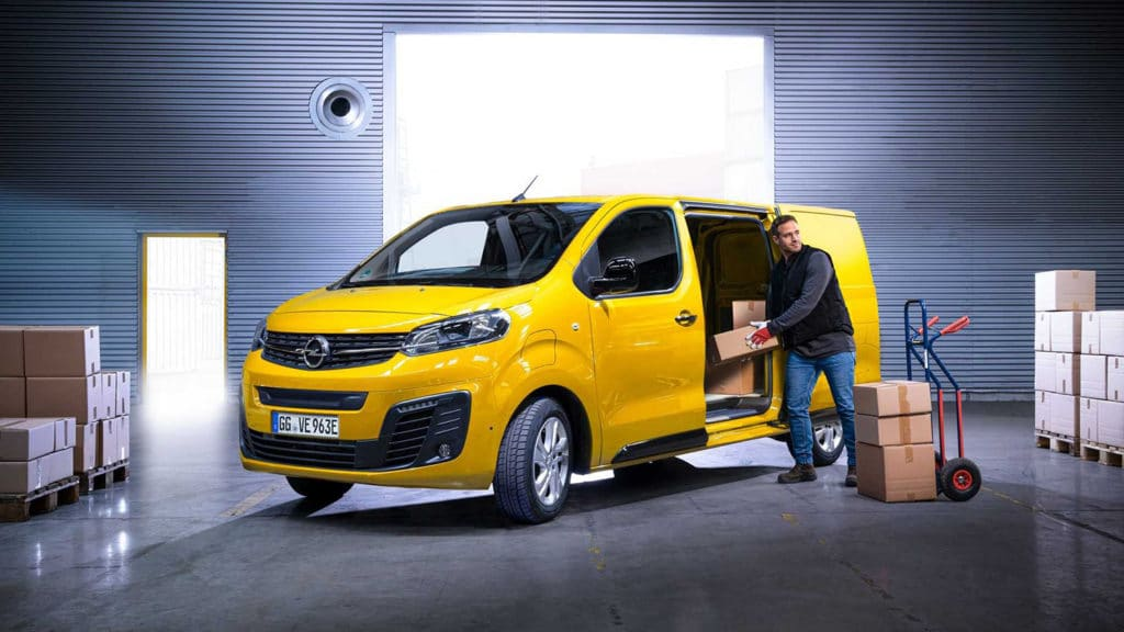 Opel Vivaro-e, its first all-electric medium-sized delivery van.