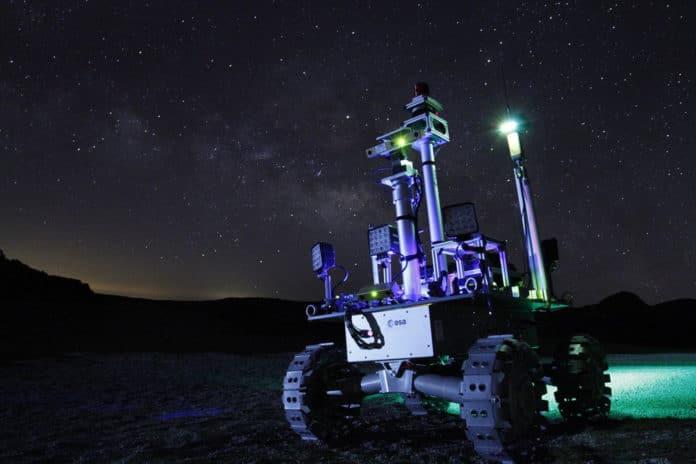 Rover testing at night.