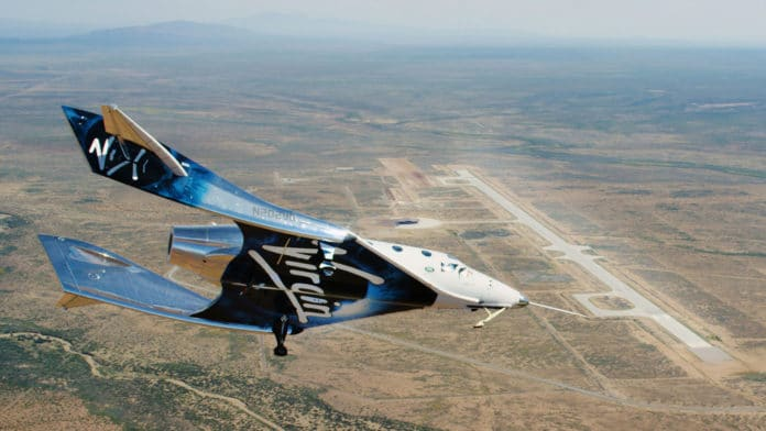 SpaceShipTwo spaceplane flew from Spaceport America for the first time.
