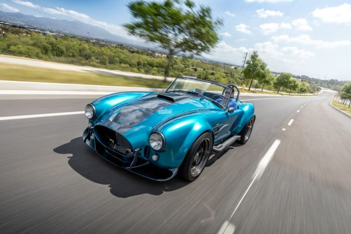 The Superformance MKIII-R, a modernized version of iconic Shelby Cobra.