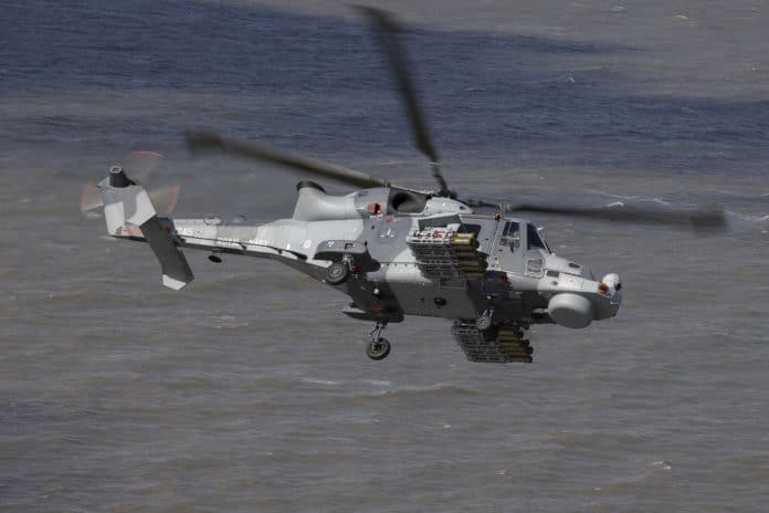 The Royal Navy tests Thales Martlet missile on AW159 Wildcat helicopter.