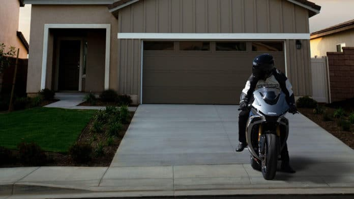 Damon's electric motorcycle will also act as an emergency home generator.