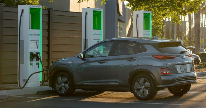 Electrify America's DC fast-charging network.