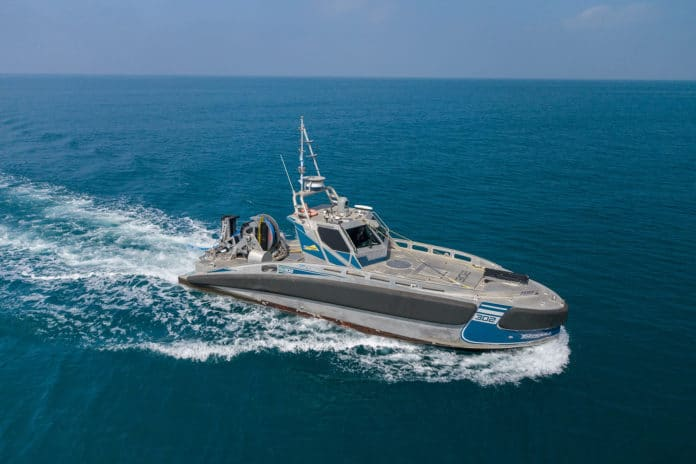 The Seagull Unmanned Surface Vessel (USV).