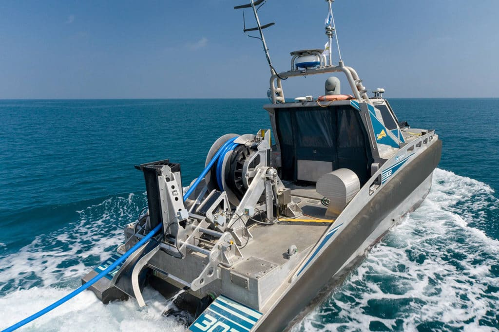 The Seagull is deployable with capability to operate from port or mother-ship