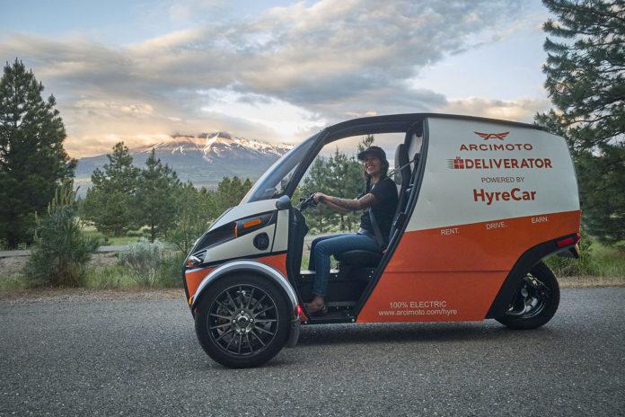 Arcimoto begins renting its three-wheel electric Deliverator in LA using HyreCar.