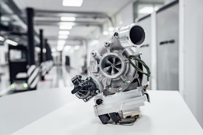Mercedes-AMG presents F1-inspired electric exhaust gas turbocharger.