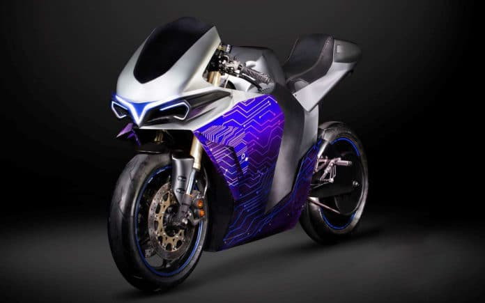 Emula, an electric motorcycle that promises real motorcycle pleasure.