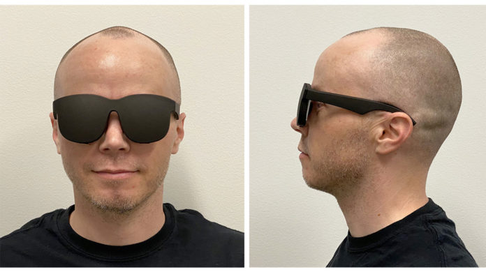 Facebook has a prototype VR headset that looks like a pair of glasses.