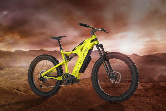 SONDORS Rockstar, a long-range, dual-suspension electric mountain bike.