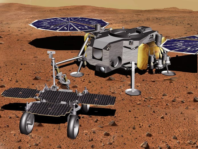 ESA's Sample Fetch Rover, which will be used to collect samples from the surface of Mars.