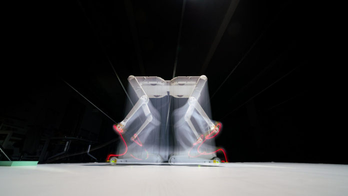 Solo 8, an open-source, research quadruped robot performs a wide range of physical actions.