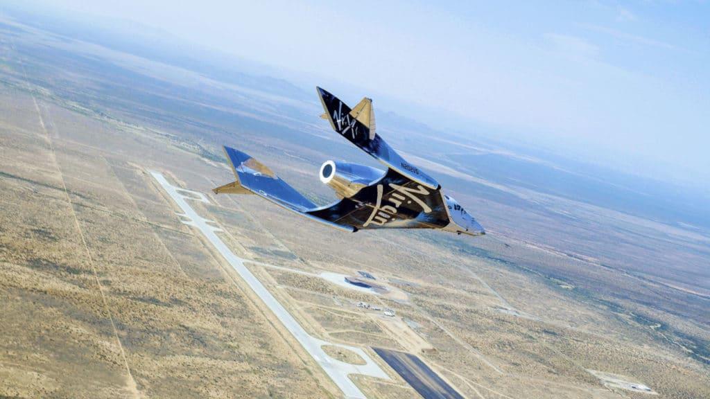 Spaceship flying