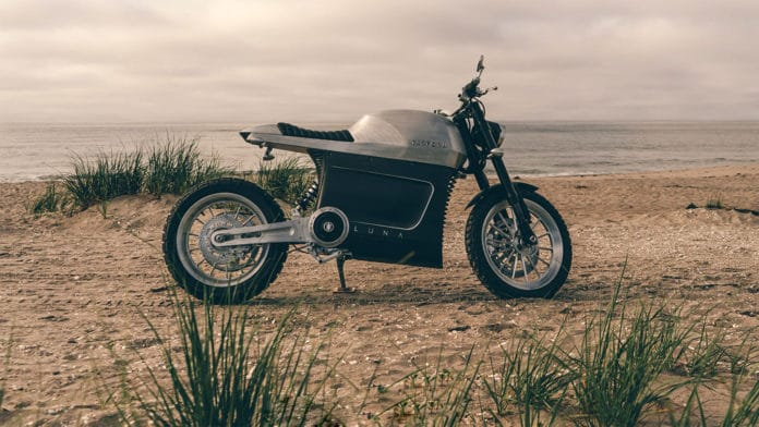 Tarform Luna, a stylish e-motorcycle with spectacular technical specifications.